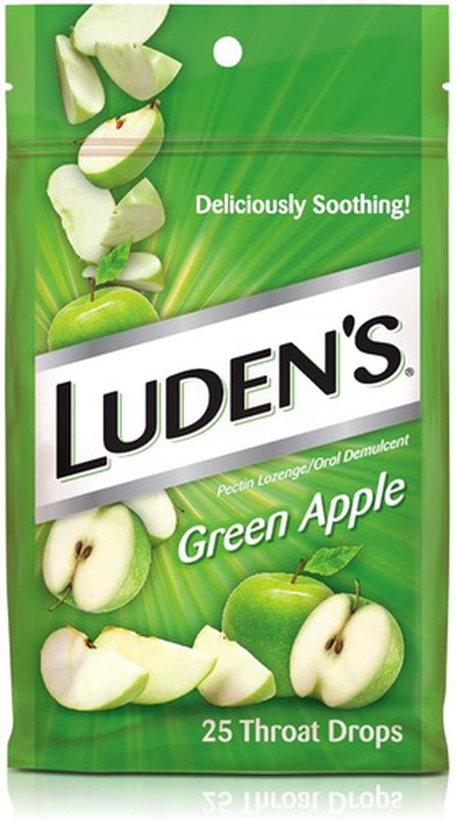 Luden's Green Apple Throat Drops, 25 ct., , large image number 0