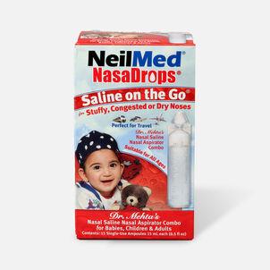 NeilMed NasaDrops Single Use Vials, 15 ea