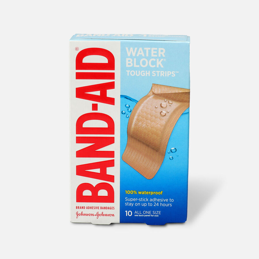 Band-Aid Adhesive Bandages, Extra Large Tough-Strips Waterproof, 10 ea, , large image number 0