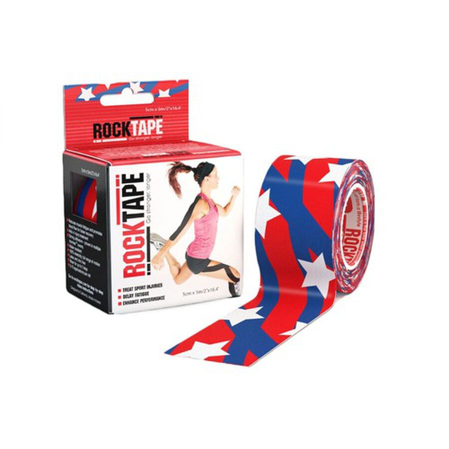 """RockTape Kinesiology Tape, 2"""" x 16.4' Roll, Medical, Stars and Stripes, , large image number 2"""