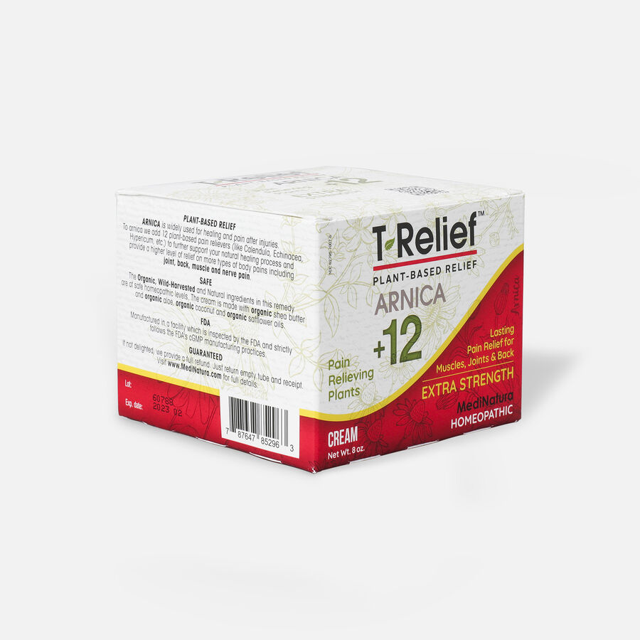 T-Relief Extra Strength Pain Relief Cream, 8 oz, , large image number 3