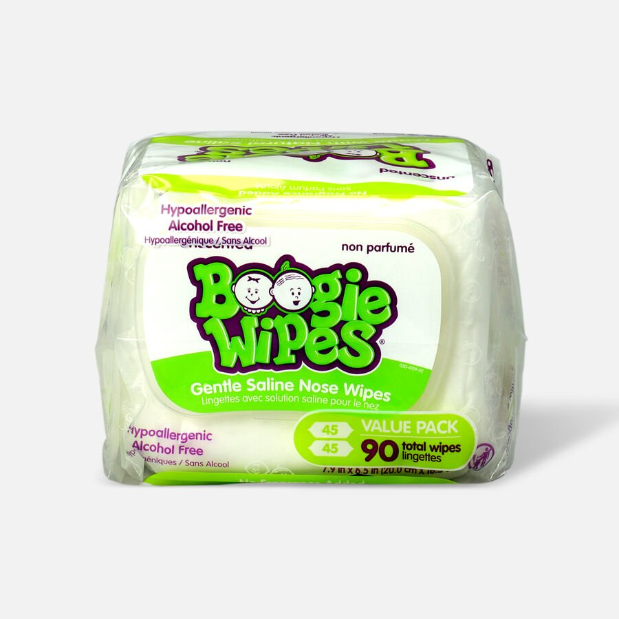 Boogie Wipes® 2-Pack 45-Count Saline Wipes in Unscented, , large image number 1