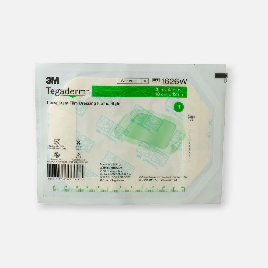 """Tegaderm Transparent Adhesive Film Dressing Picture Frame Style 4"""" x 4-3/4"""" - 1ct, , large image number 0"""