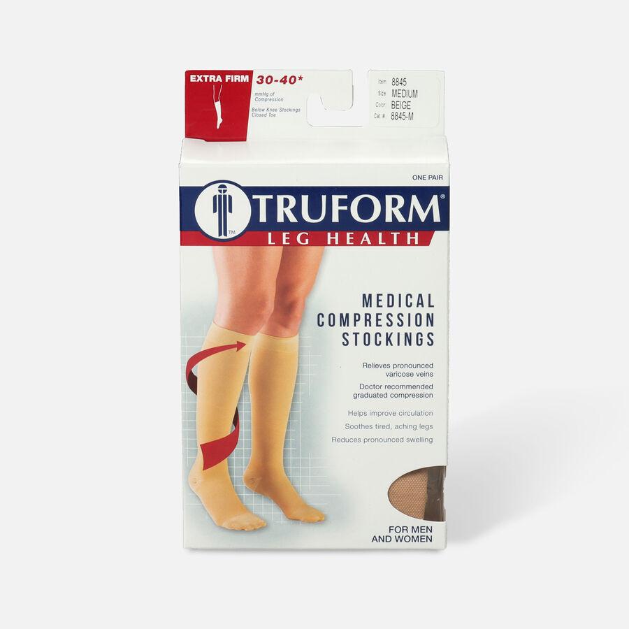 Truform Knee High Stockings, 30-40mmHg, Unisex, , large image number 1