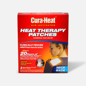 Cura-Heat Therapeutic HeatPacks for Back, Shoulder, and Neck Pain, 3 ea