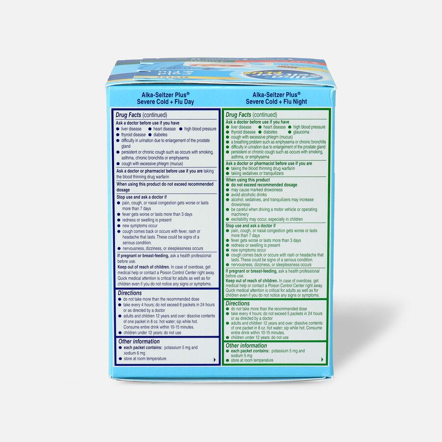 Alka-Seltzer Plus Powder - Severe Cold & Flu, Day & Night Powder Packets, Honey Lemon, 12ct, , large image number 1