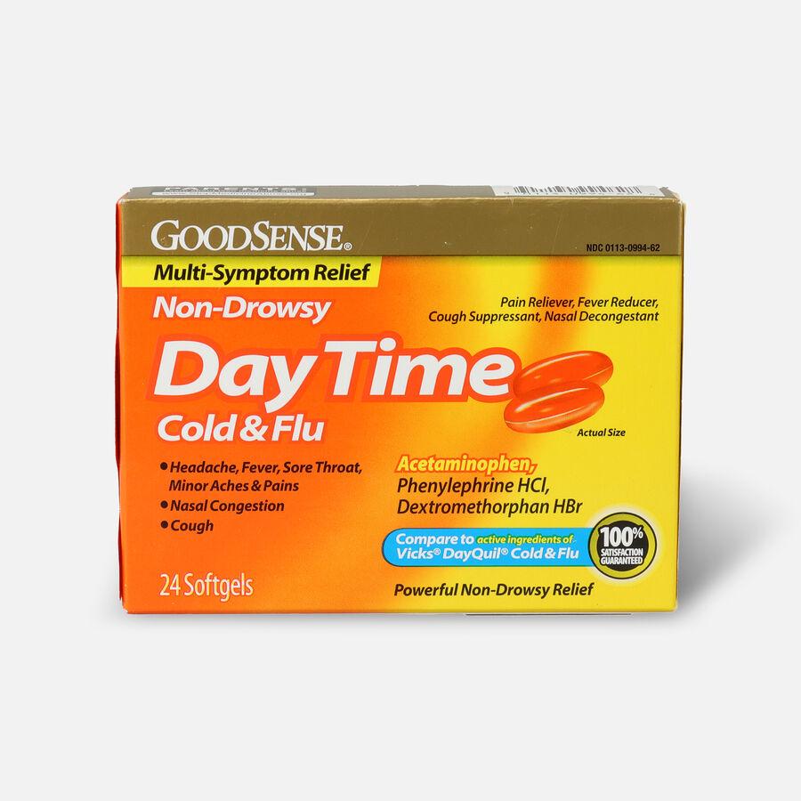 GoodSense® DayTime Cold & Flu Multi-Symptom Relief Softgels, , large image number 0