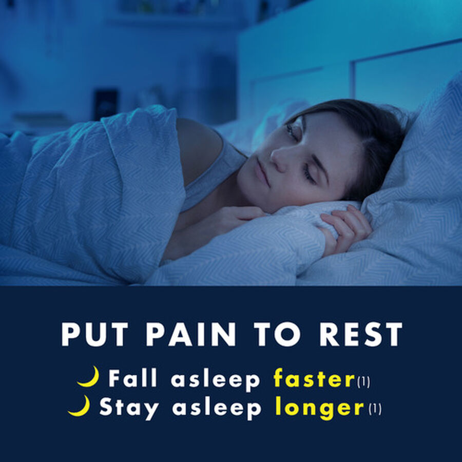 Advil Pain PM Reliever & Nighttime Sleep Aid Coated Caplets, 80 ct, , large image number 10