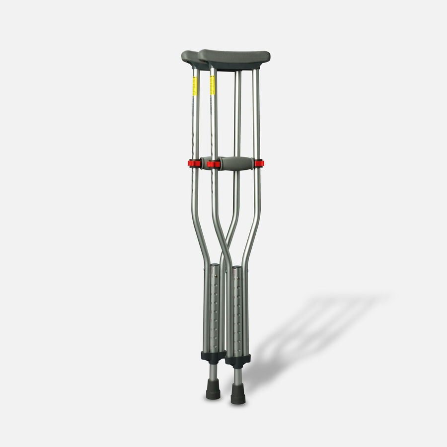 Medline Red Dot Button Crutches - 1 Pair, , large image number 2