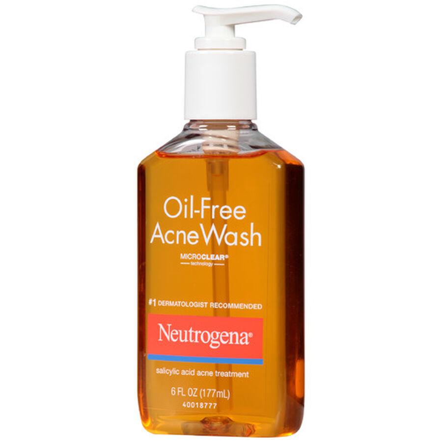 Neutrogena Oil-Free Acne Wash with Salicylic Acid, 6oz., , large image number 2