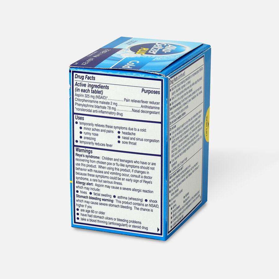 Alka-Seltzer Plus Cold Formula Sparkling Original Effervescent Tablets, 20ct, , large image number 2