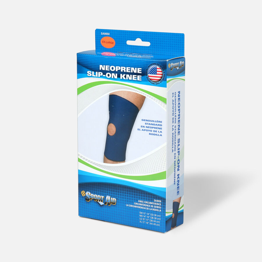 "Sportaid Neoprene Slip-On Knee Brace Open Patella, Blue XL 17""-19"", 1 ea, , large image number 2"
