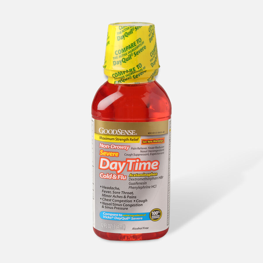 GoodSense® DayTime Cold & Flu Non Drowsy Severe, 12 fl oz, , large image number 0