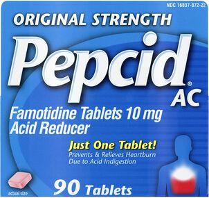 Pepcid AC Acid Reducer Original Strength Tablets, 90 ct