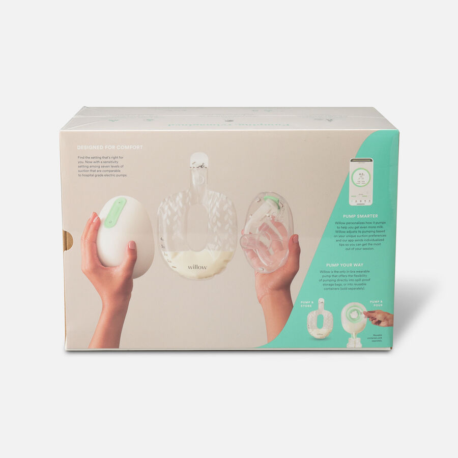 Willow Generation 3 Wearable Double Electric Breast Pump - White, , large image number 1