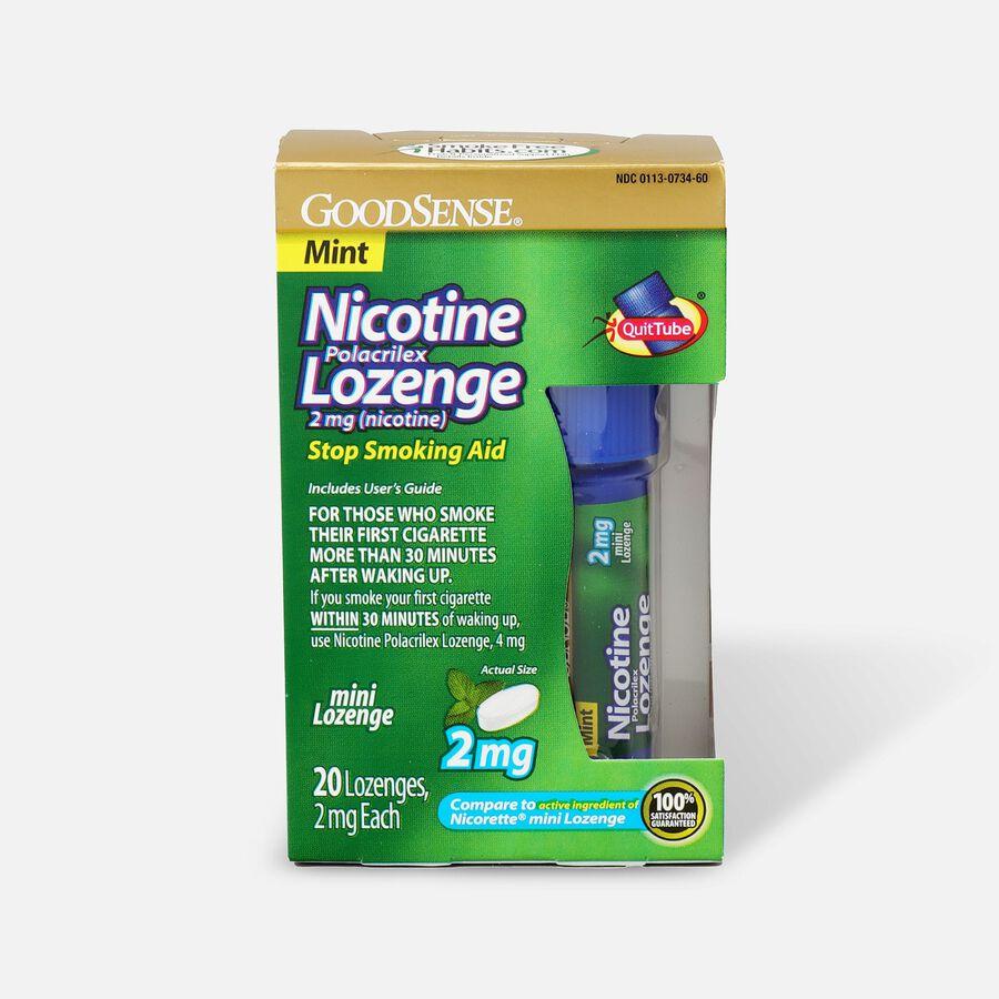 GoodSense® Nicotine Mini Lozenge Quit Tube Mint 2 mg, , large image number 0