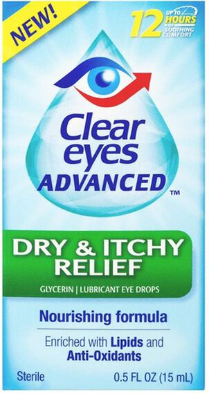 Clear Eyes Advanced Dry & Itchy Drops, .5 oz