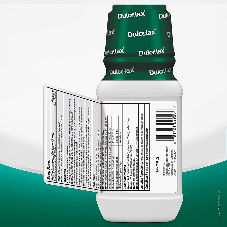 Dulcolax Liquid Laxative, Mint Flavored, 12 oz, , large image number 5