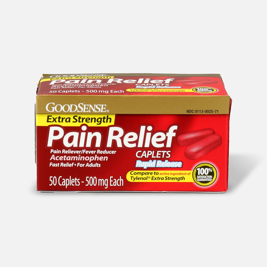GoodSense® Pain Relief Extra Strength 500 mg Rapid Release Caplets, , large image number 9