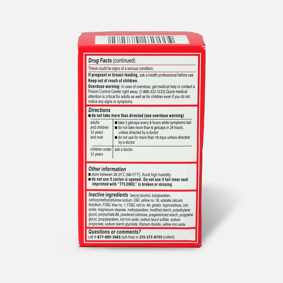 Tylenol Extra Strength Rapid Release Gels, 100 ct, , large image number 1