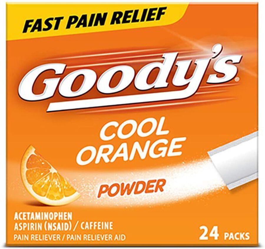 Goody's Cool Orange Acetaminophen / Aspirin Powder Stick, 24ct., , large image number 0