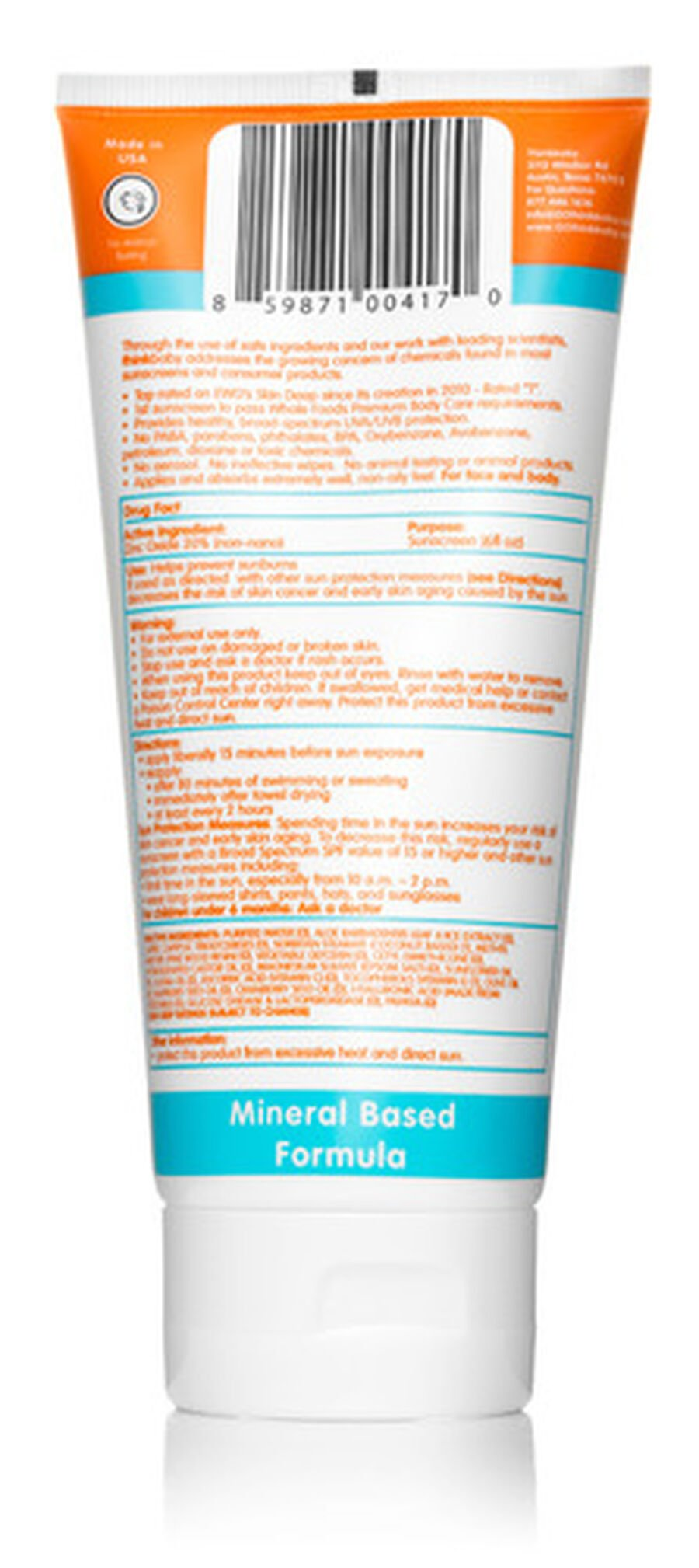 Thinkbaby Sunscreen SPF 50, 6oz., , large image number 1