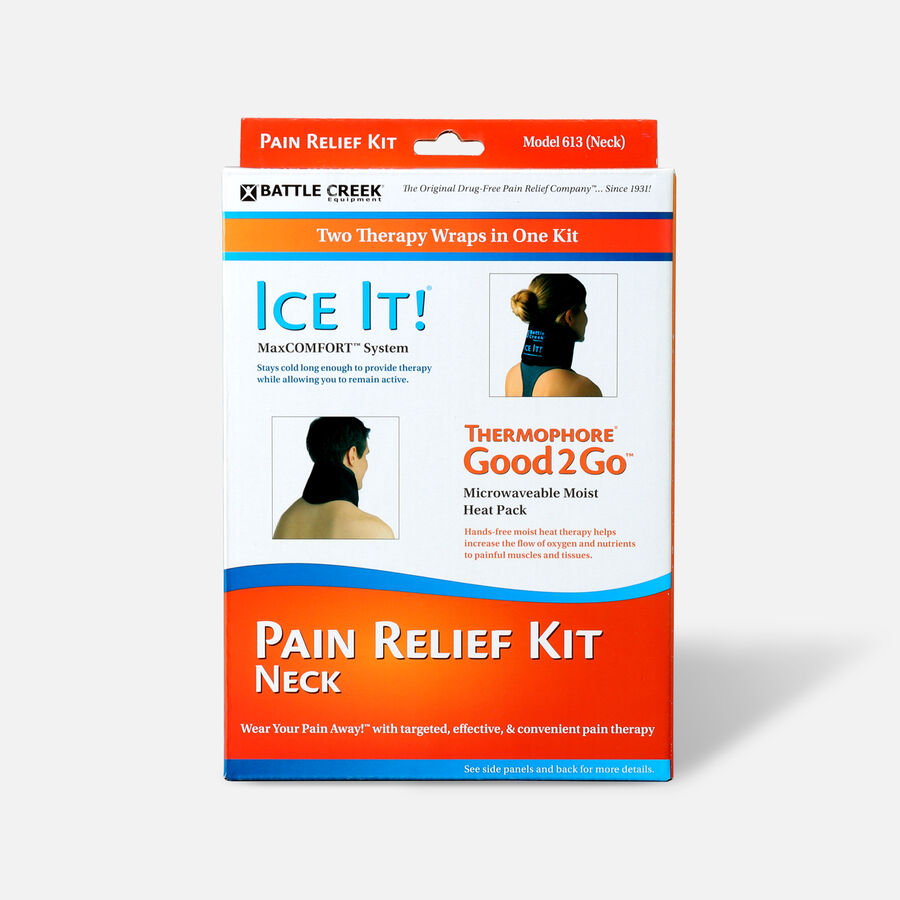 Battle Creek Neck Pain Kit with Moist Heat and Cold Therapy, , large image number 0