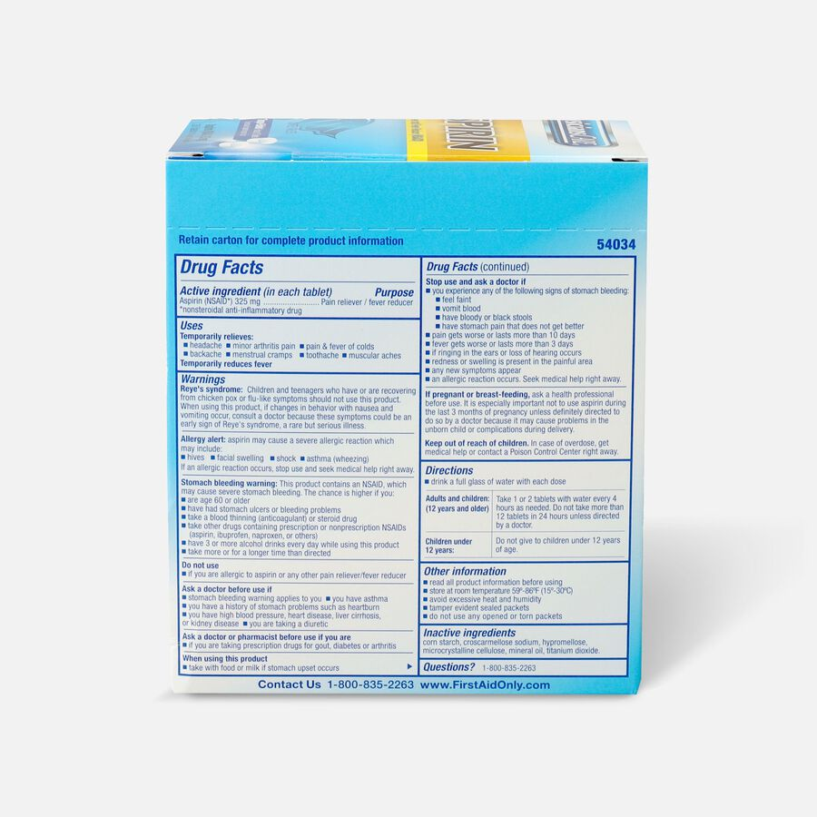 PhysiciansCare Aspirin, 250 Box, , large image number 1