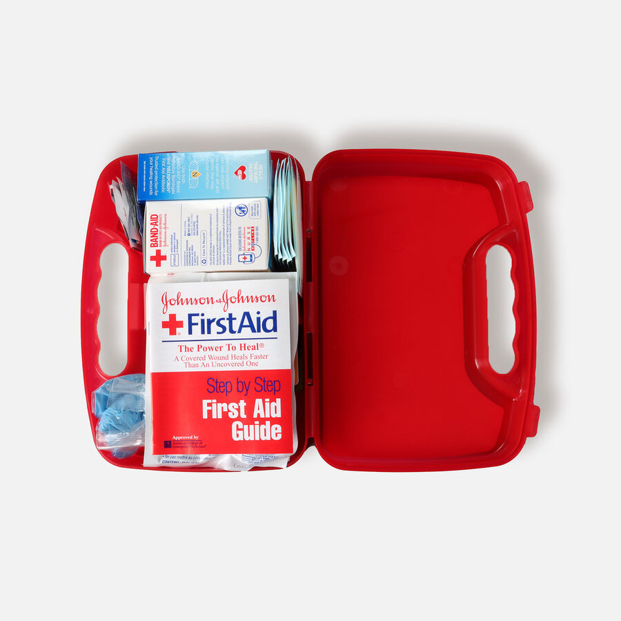 Johnson & Johnson Red Cross® All Purpose First Aid Kit, 140 Items, , large image number 2