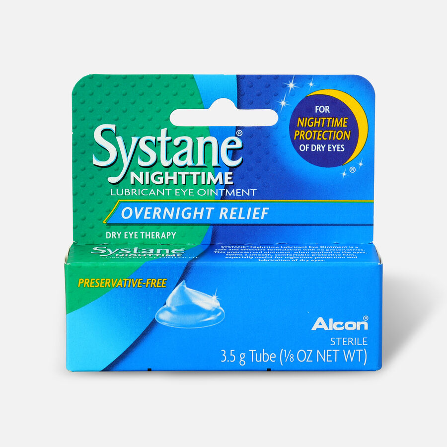 Systane Nightime Eye Ointment, 1/8 oz, , large image number 0