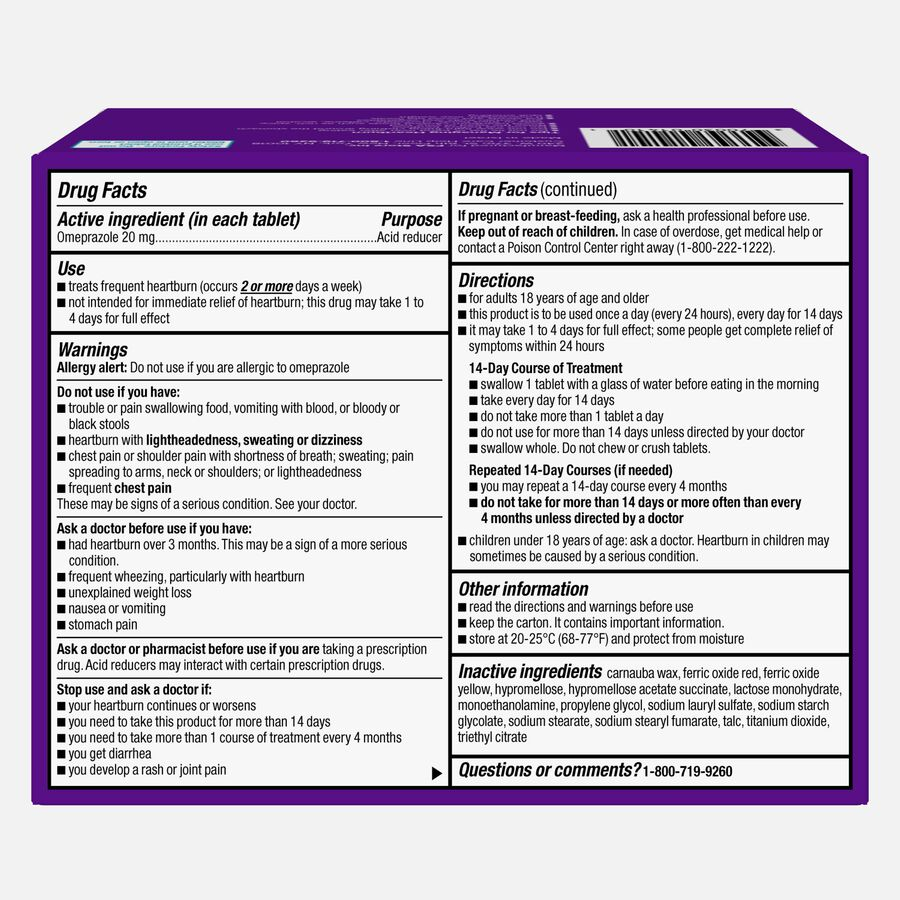 Caring Mill™ Omeprazole Delayed Release Tablets, 42 ct, , large image number 1