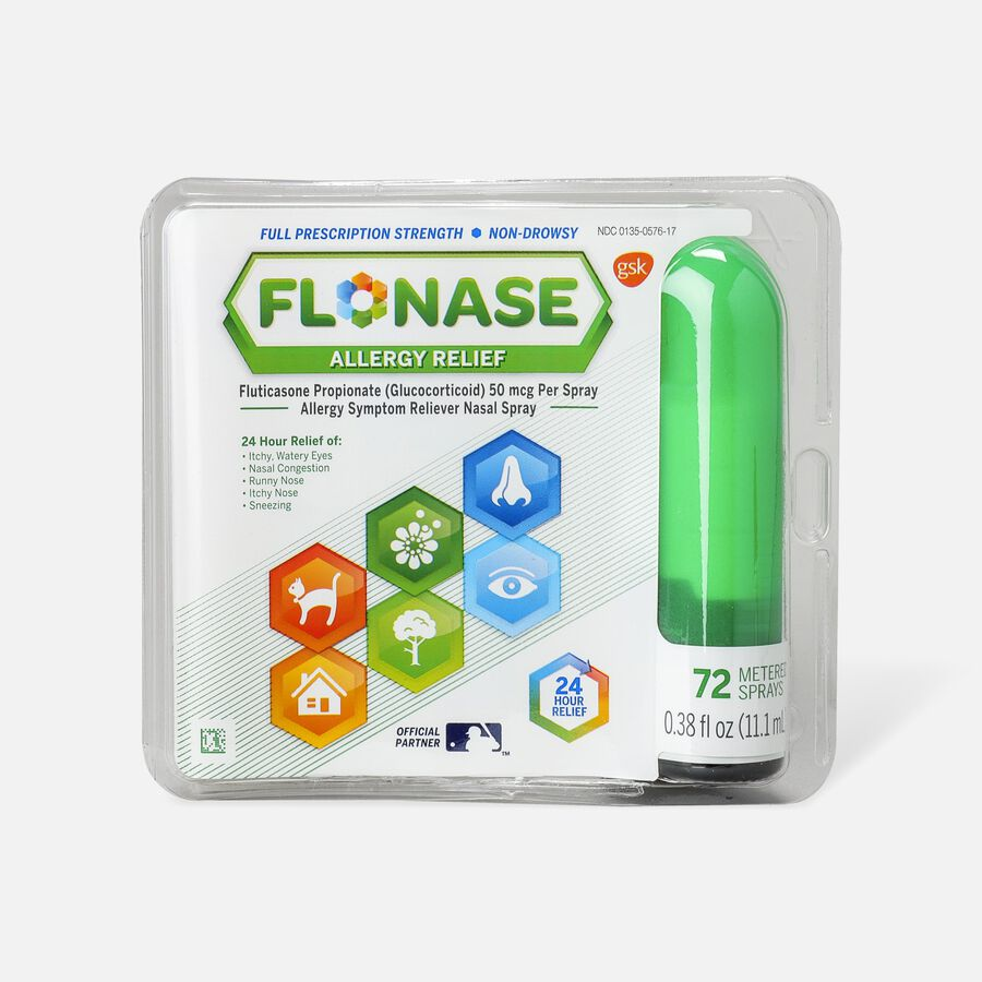 Flonase Allergy Relief Nasal Spray, 72 ct, , large image number 1