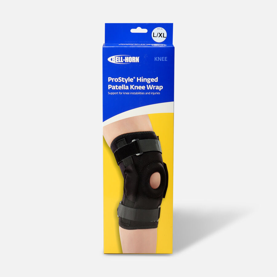 Bell-Horn ProStyle Hinged Patella Knee Wrap, Black, L/XL, , large image number 0