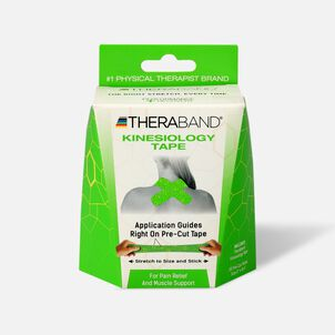 Theraband® Kinesiology Tape Precut Roll Green/Yellow, 20 ct