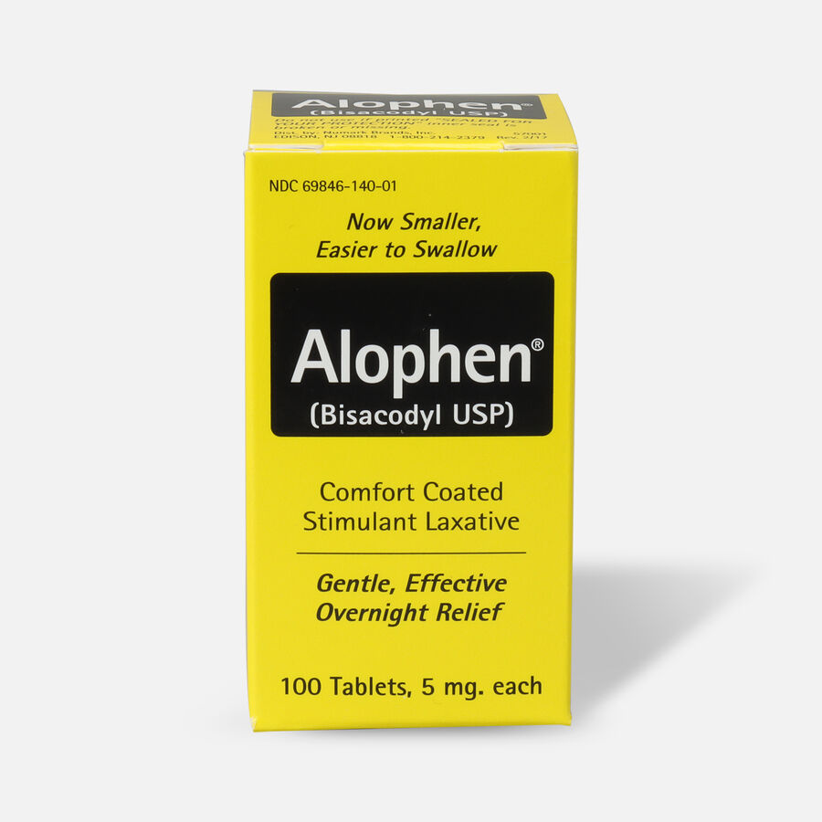 Alophen Bisacodyl Laxative Tablets, 5mg, 100 ct, , large image number 0