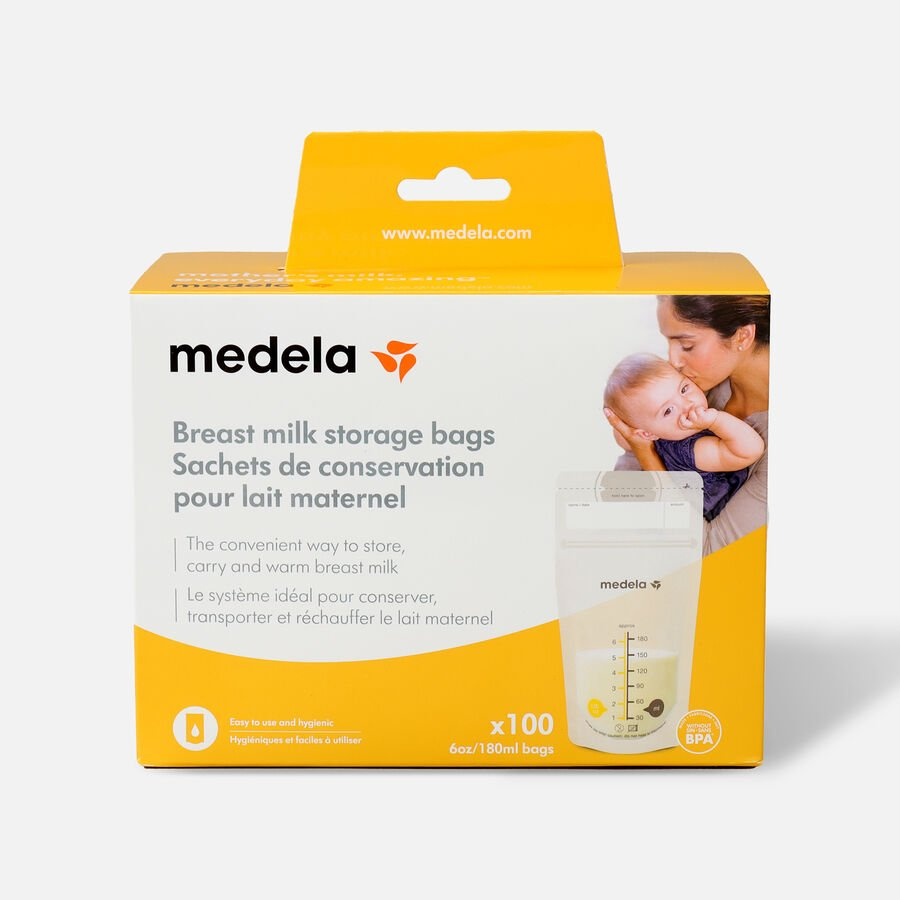 Medela Breast Milk 6oz Storage Bags, 100 count, , large image number 0