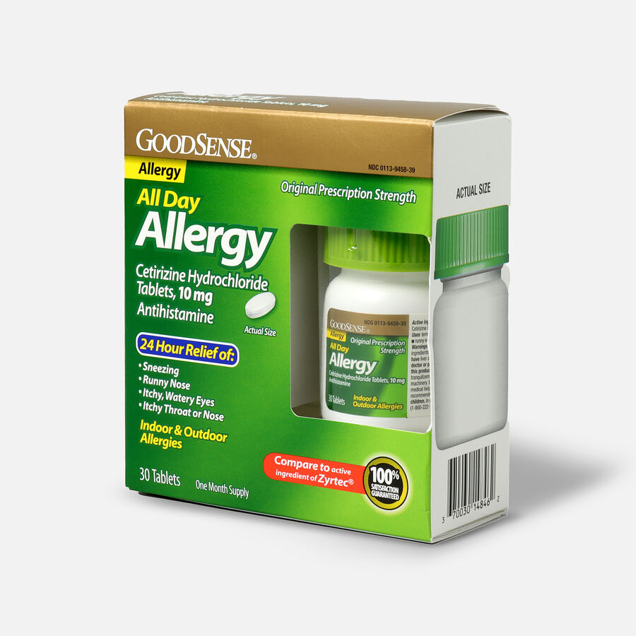 GoodSense® All Day Allergy Relief, Cetirizine HCl Tablets 10 mg, , large image number 5