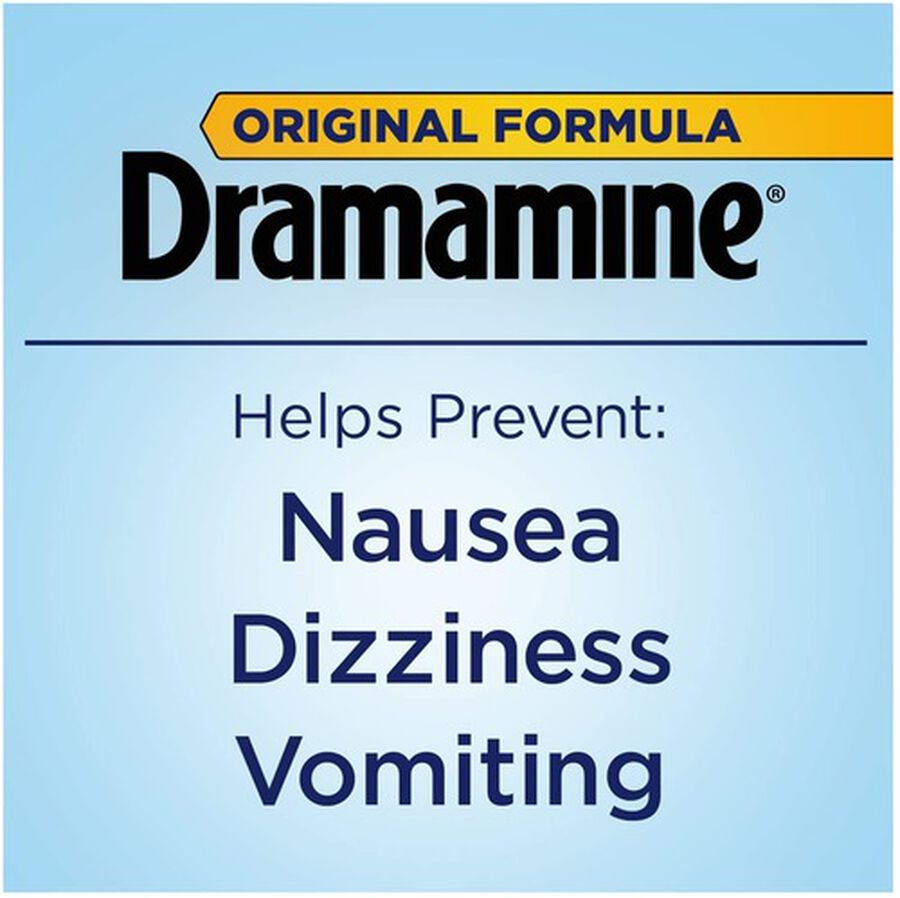 Dramamine Motion Sickness Relief Tablets, Original Formula, 36 ct, , large image number 3