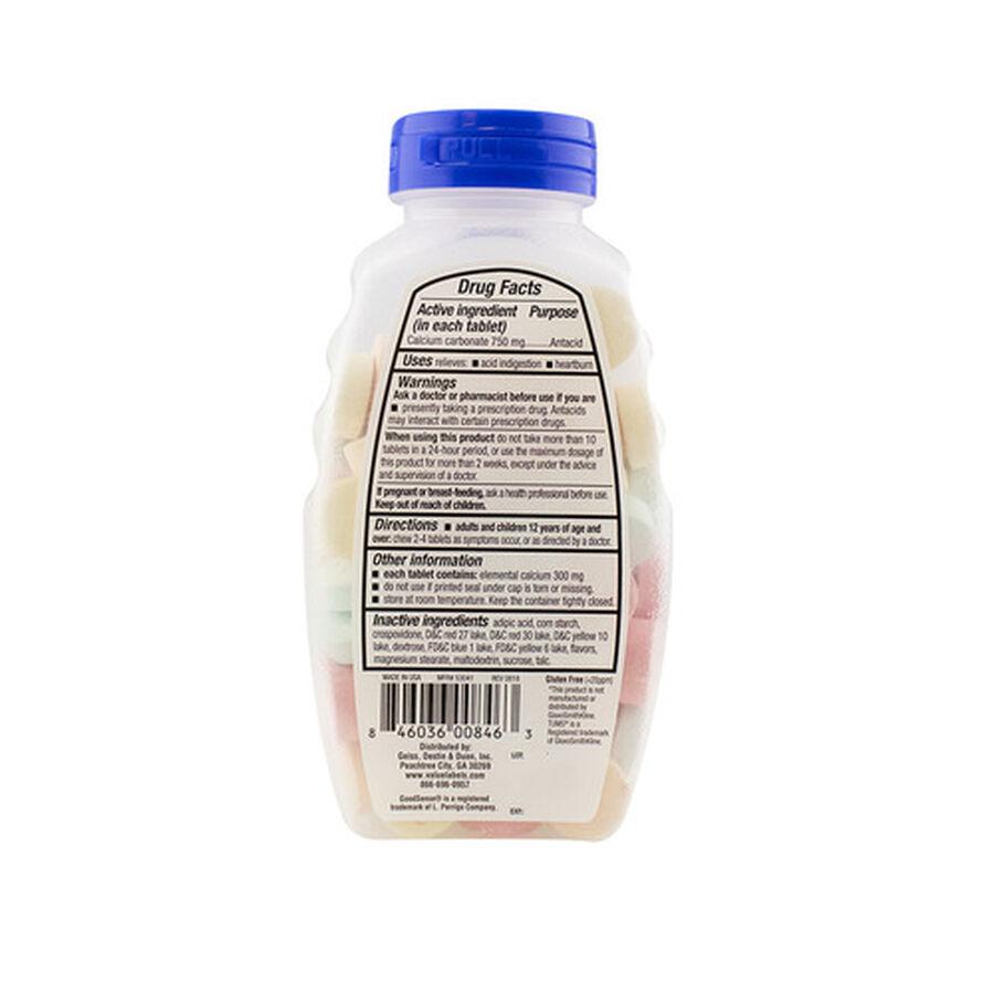 GoodSense® Antacid Calcium Extra Strength Chew Tabs, Asst Fruit, 96 ct, , large image number 1