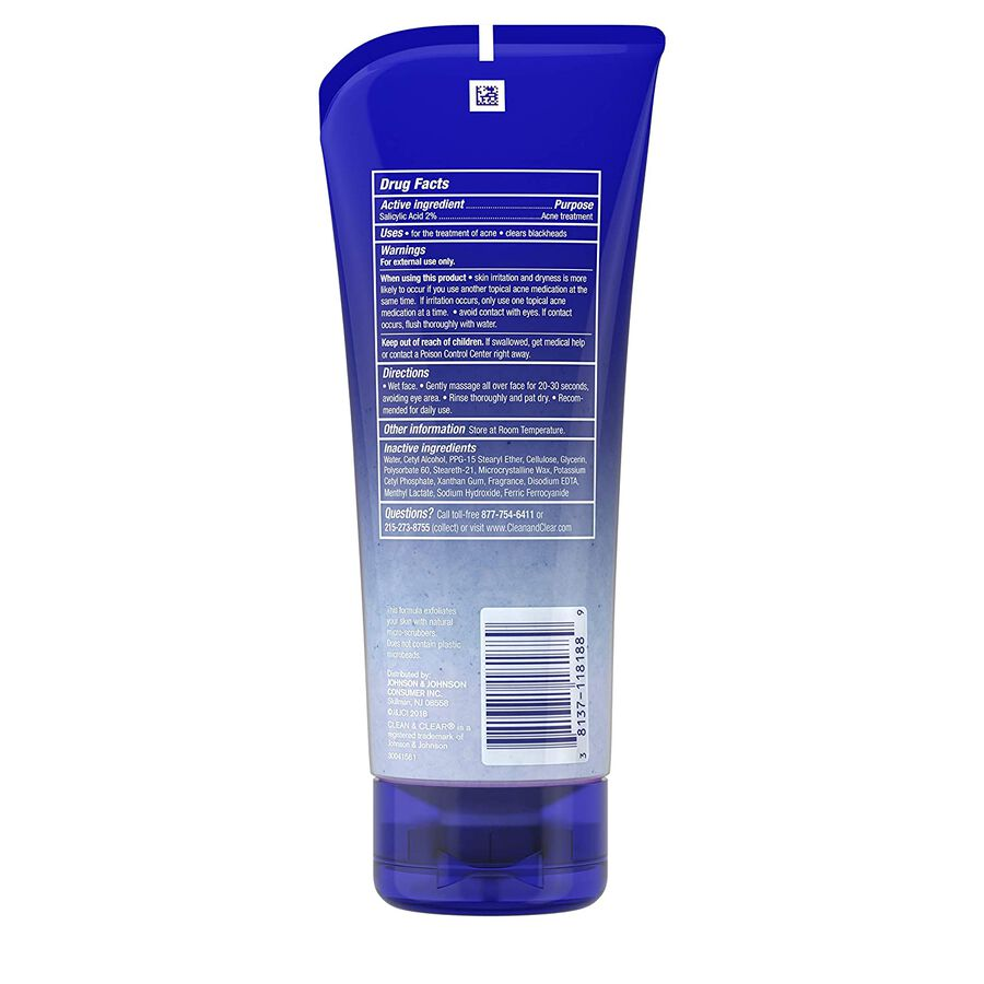 Clean & Clear Blackhead Eraser Scrub Oil Free, 7 oz, , large image number 1