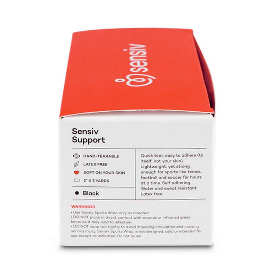 Sensiv Self-Adhering Elastic Sports Wrap, Black, 2 pack, , large image number 8