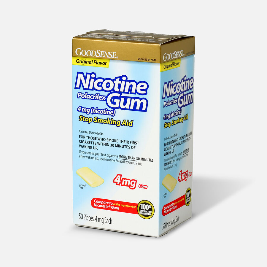 GoodSense® Nicotine Polacrilex Gum 4 mg Original Uncoated, , large image number 5