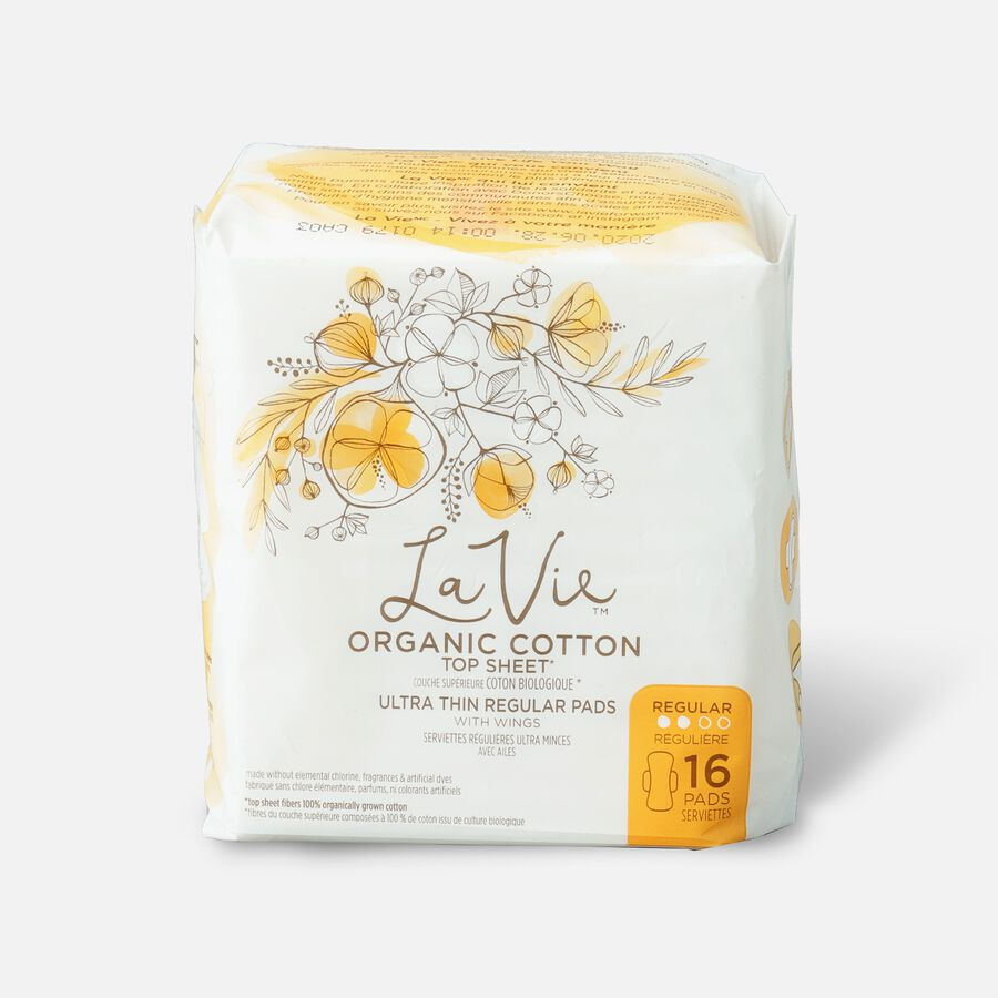 La Vie Organic Cotton Top Sheet Ultra-Thin Liners, 27ct, , large image number 0