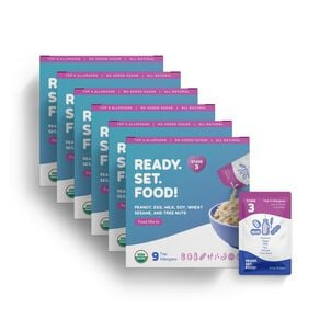 Ready, Set, Food! Early Allergen Introduction System for Babies 8+ Months, Stage 3, 180 day supply