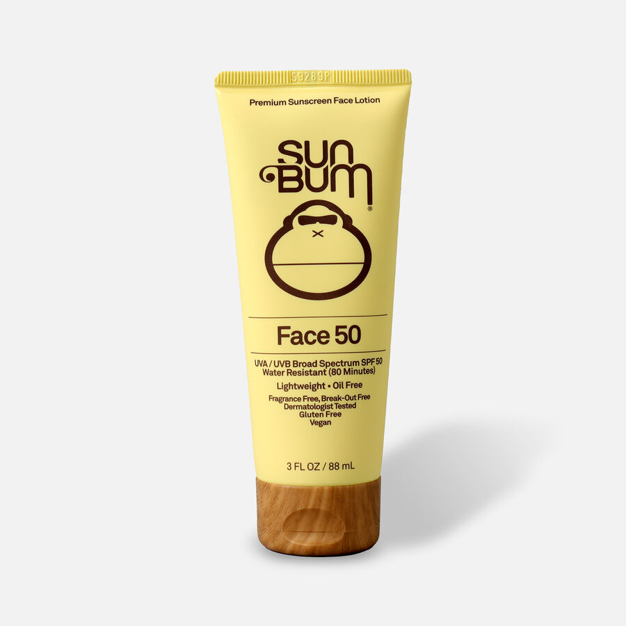 Sun Bum SPF 50 Face Sunscreen Lotion, 3 oz, , large image number 0