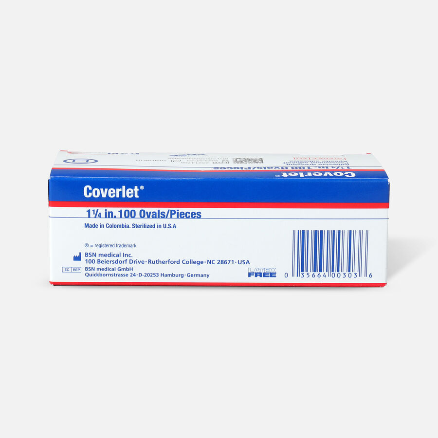 "Coverlet Spots Oval Adhesive Bandage, 1-1/4"" - 100ct, , large image number 1"