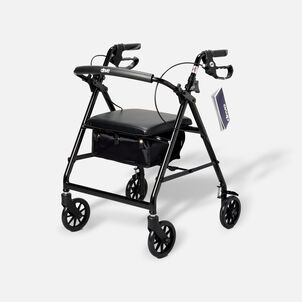 """Drive Aluminum Rollator with Fold Up and Removable Back Support, 6"""" Casters, Black"""