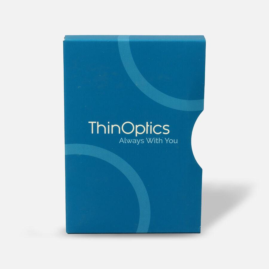 ThinOPTICS Reading Glasses on your Phone, +2.00 Black Glasses, White Universal Pod Case, , large image number 1