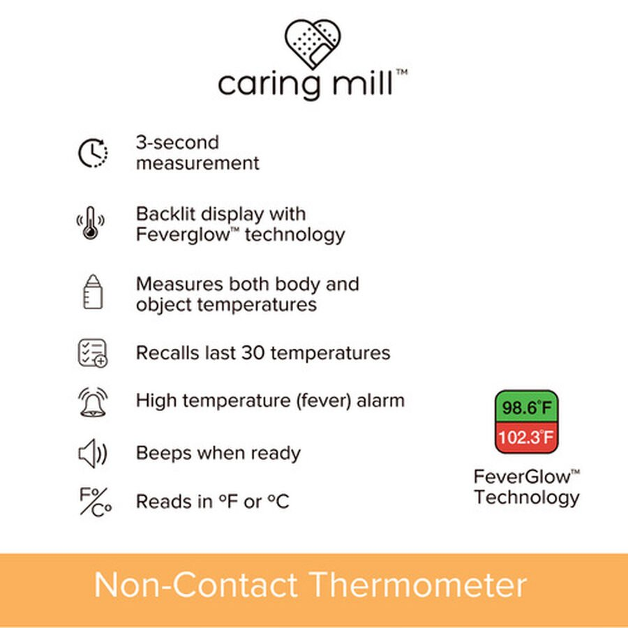 Caring Mill® Non touch Forehead Thermometer, , large image number 4