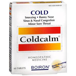 Boiron Coldcalm, Cold Relief Quick Dissolving Tablets, 60 ea